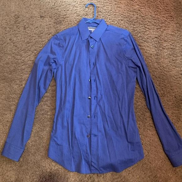 Express Other - Blue Express Dress Shirt